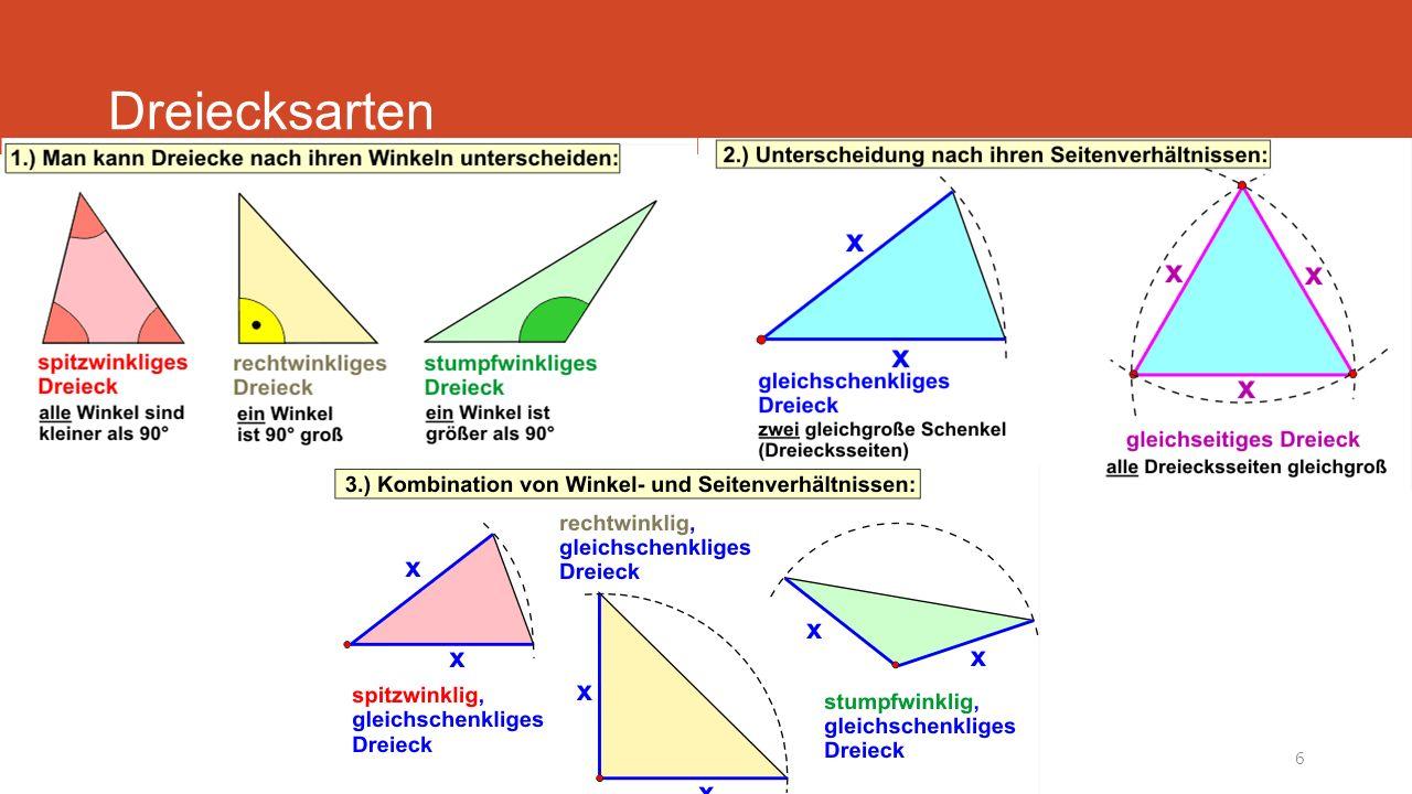 Mathematik - Winkelfunktionen6 Dreiecksarten