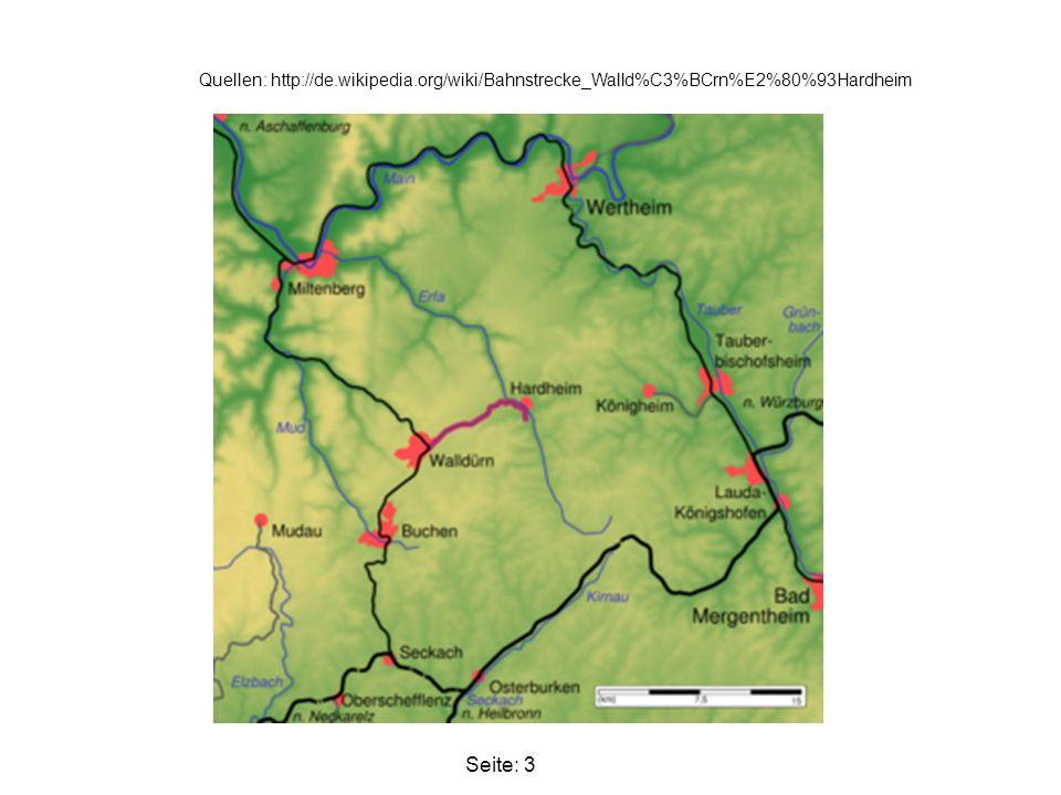 Dann 1911, wurde die Teilstrecke Walldürn Höpfingen Hardheim eingeweiht.