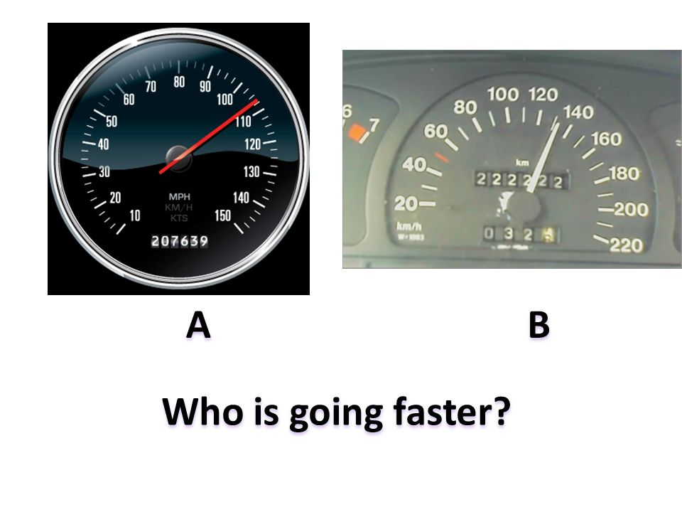 Who is going faster? AB