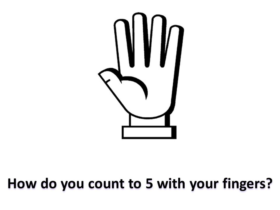 How do you count to 5 with your fingers?