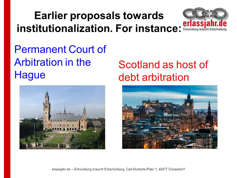 Earlier proposals towards institutionalization.