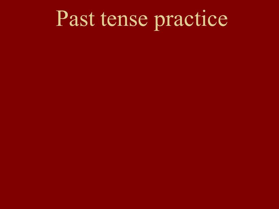 Past tense practice