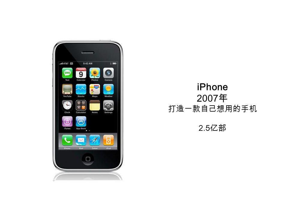 iPhone 2007 年 打造一款自己想用的手机 2.5 亿部
