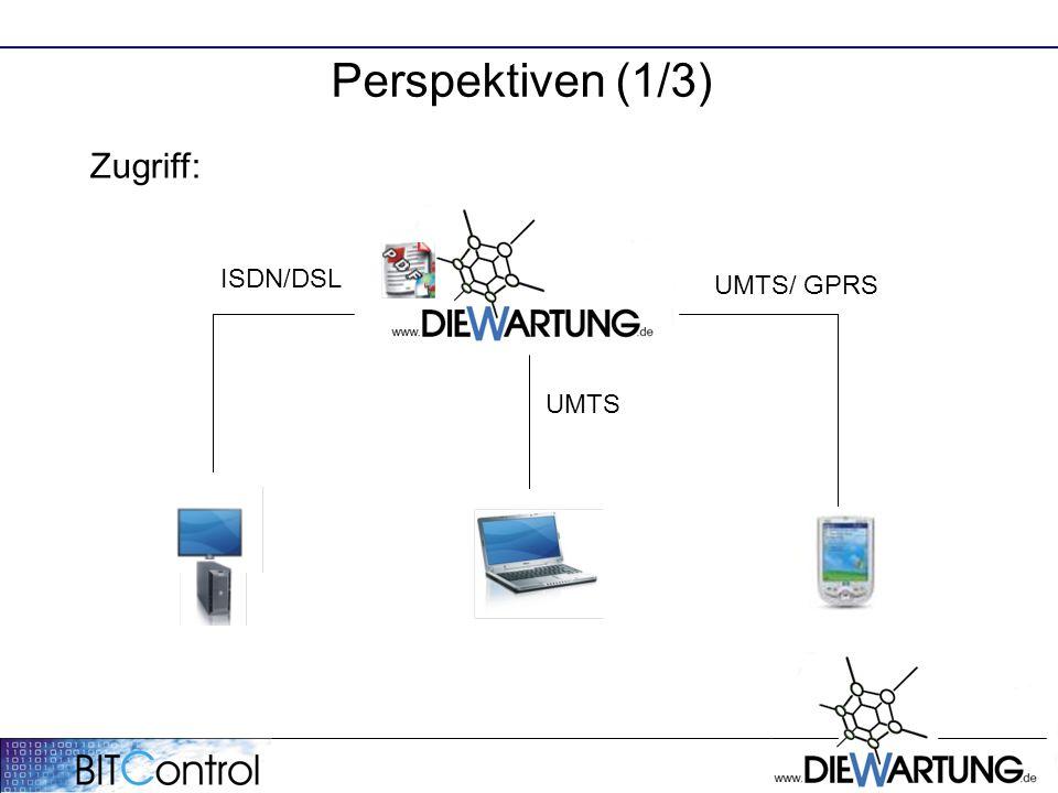 Perspektiven (1/3) ISDN/DSL UMTS Zugriff: UMTS/ GPRS
