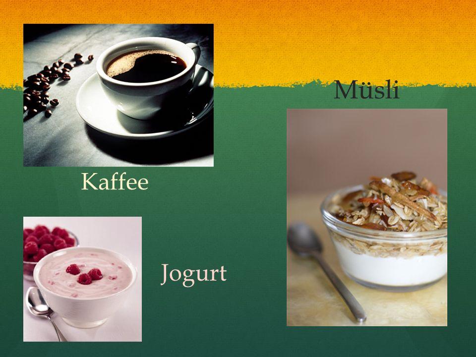 Kaffee Jogurt Müsli