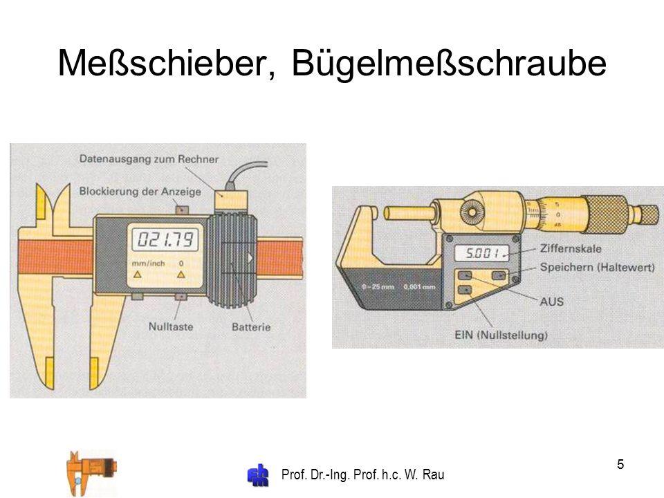 Prof. Dr.-Ing. Prof. h.c. W. Rau 16 Kalibrierkette für Lehren