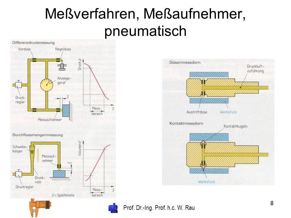 Prof. Dr.-Ing. Prof. h.c. W. Rau 8 Meßverfahren, Meßaufnehmer, pneumatisch