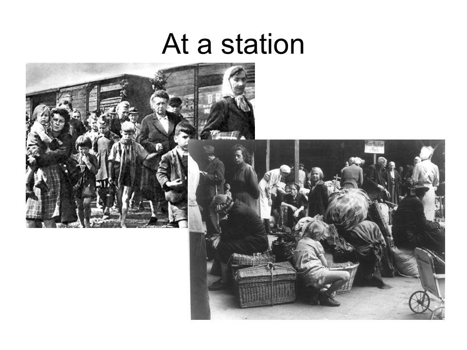 At a station