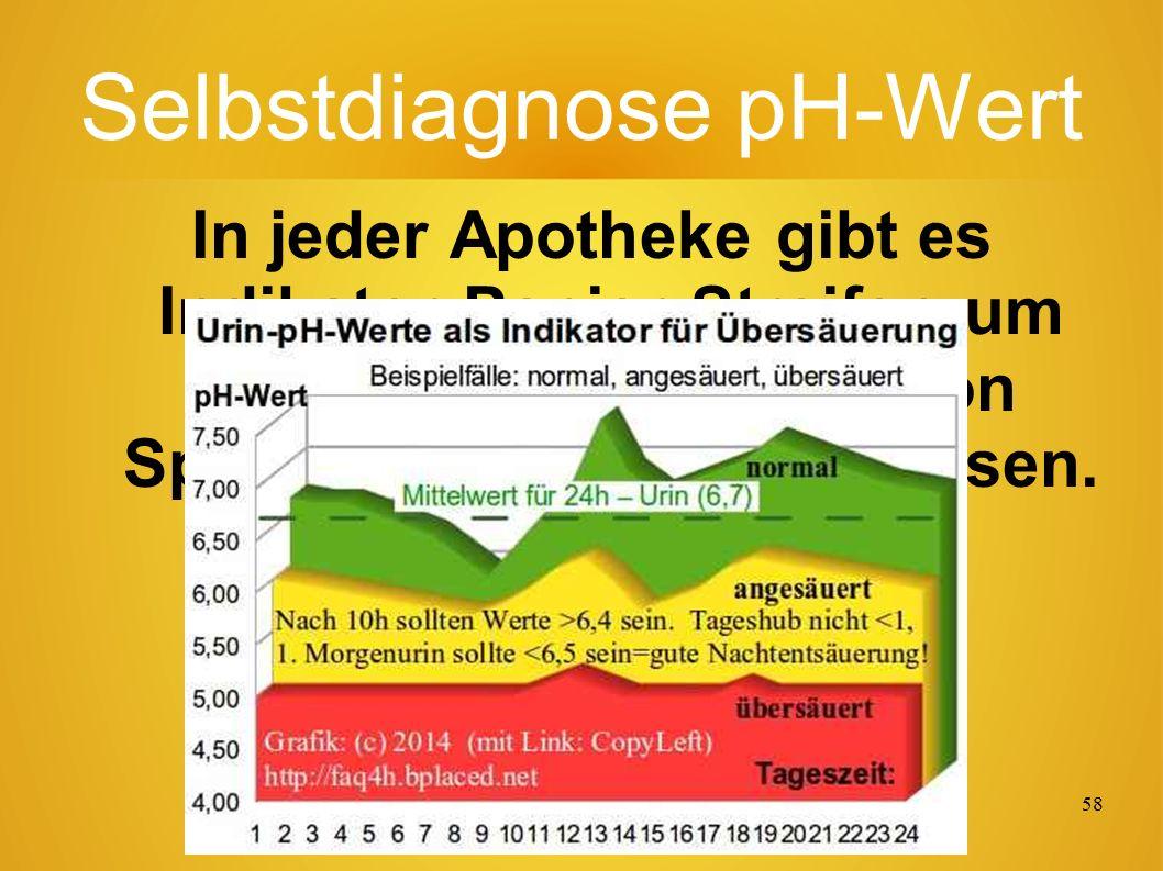 57 Trinkwasser + µS Der Leitwert in Mikro-Siemens (µS) ist ein Qualitätsmerkmal bzgl.
