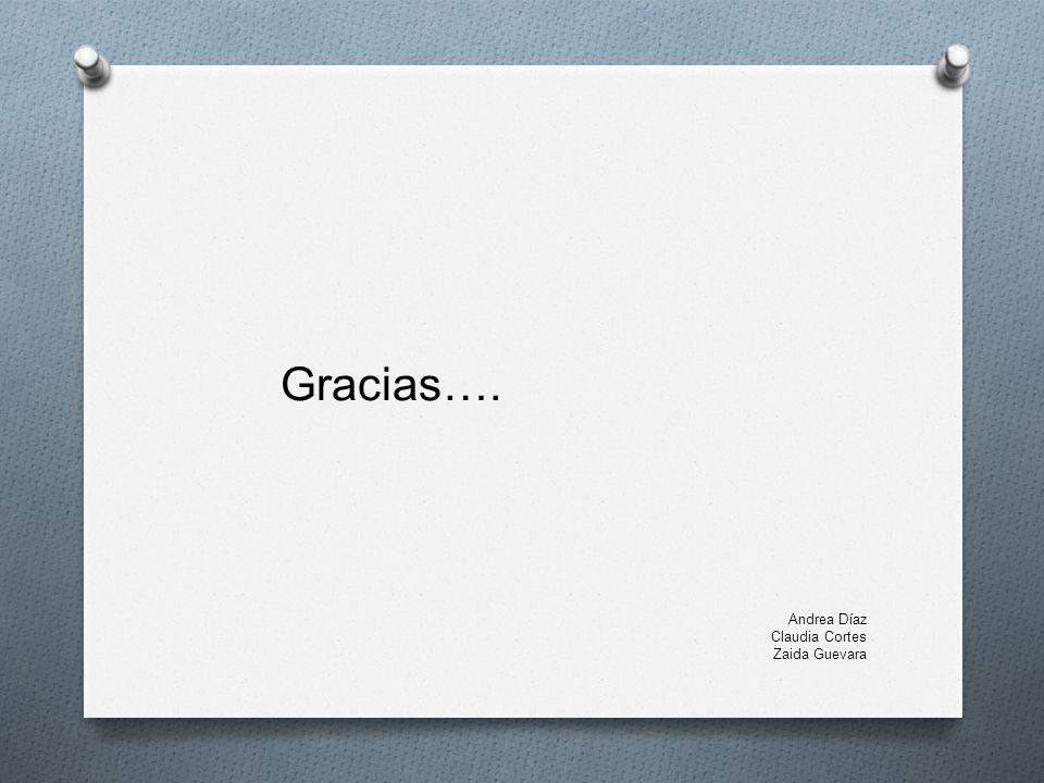 Gracias…. Andrea Díaz Claudia Cortes Zaida Guevara