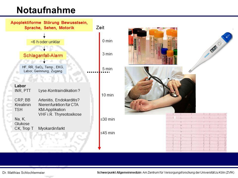 Schwerpunkt Allgemeinmedizin Am Zentrum für Versorgungsforschung der Universität zu Köln (ZVfK) © Prof. Dr. J.W. Robertz Apoplektiforme Störung Bewuss