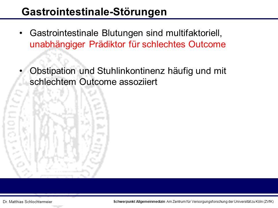 Schwerpunkt Allgemeinmedizin Am Zentrum für Versorgungsforschung der Universität zu Köln (ZVfK) © Prof. Dr. J.W. Robertz Gastrointestinale-Störungen G