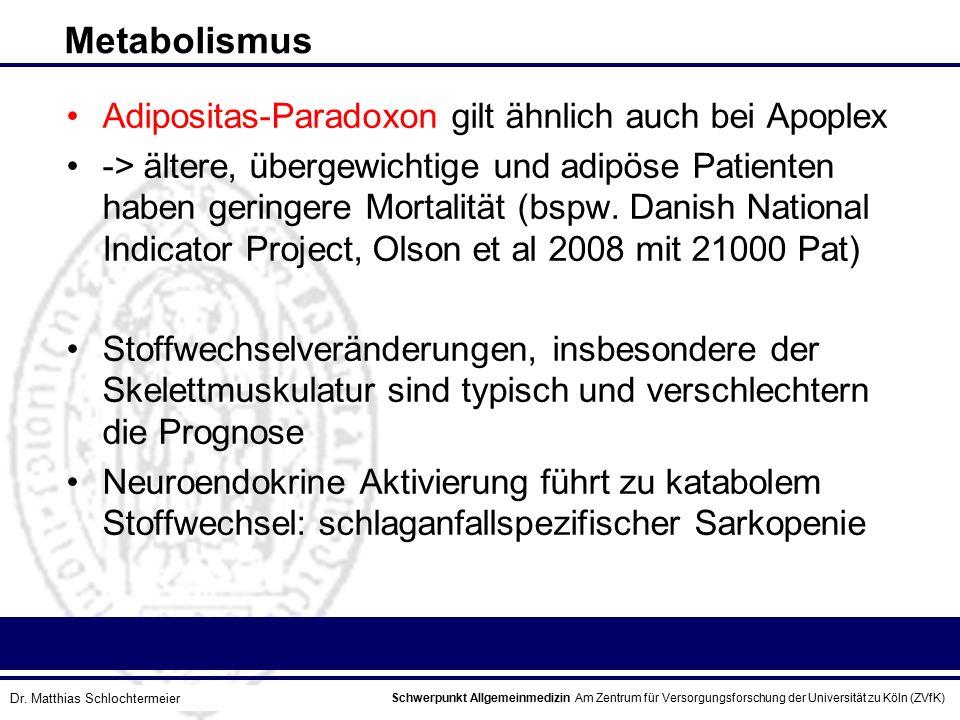 Schwerpunkt Allgemeinmedizin Am Zentrum für Versorgungsforschung der Universität zu Köln (ZVfK) © Prof. Dr. J.W. Robertz Metabolismus Adipositas-Parad