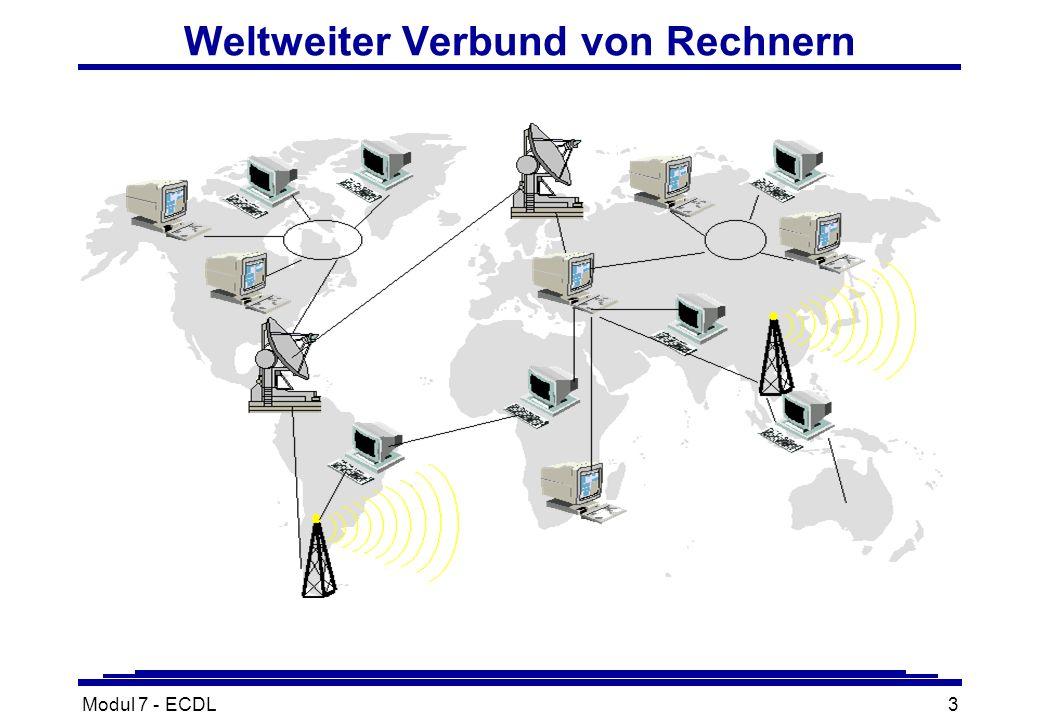 Modul 7 - ECDL3 Weltweiter Verbund von Rechnern