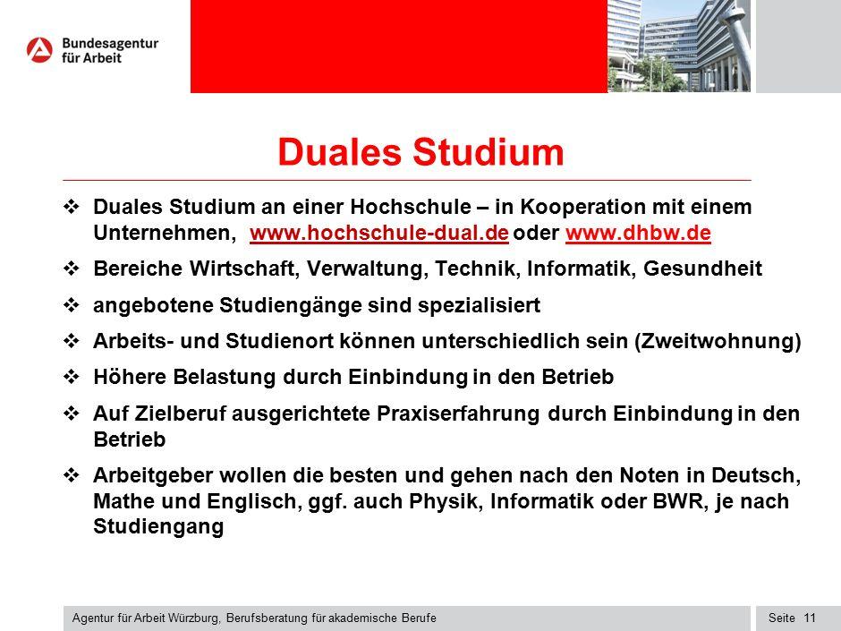Seite Duales Studium  Duales Studium an einer Hochschule – in Kooperation mit einem Unternehmen, www.hochschule-dual.de oder www.dhbw.dewww.hochschul