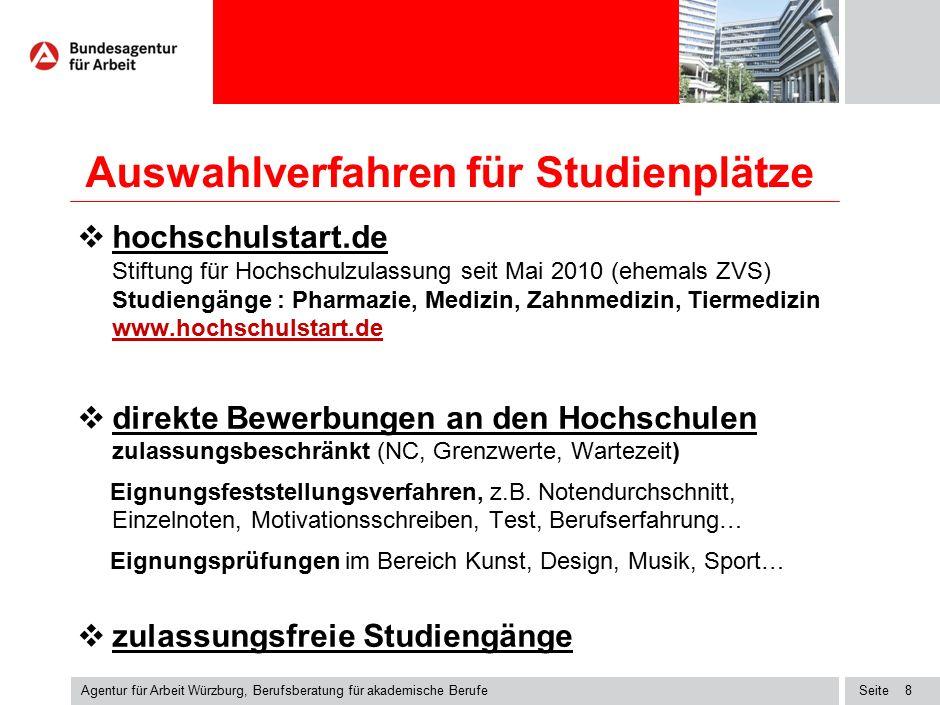Seite Auswahlverfahren für Studienplätze  hochschulstart.de Stiftung für Hochschulzulassung seit Mai 2010 (ehemals ZVS) Studiengänge : Pharmazie, Med