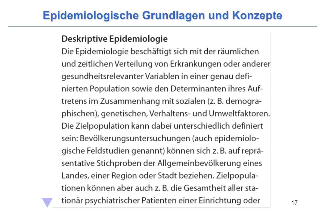 Wittchen, H.-U. & Hoyer, J. (2006). Klinische Psychologie & Psychotherapie. Heidelberg: Springer. 17 Epidemiologische Grundlagen und Konzepte