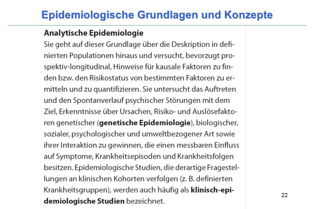 Wittchen, H.-U. & Hoyer, J. (2006). Klinische Psychologie & Psychotherapie. Heidelberg: Springer. 22 Epidemiologische Grundlagen und Konzepte
