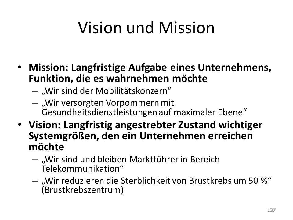 """Vision und Mission Mission: Langfristige Aufgabe eines Unternehmens, Funktion, die es wahrnehmen möchte – """"Wir sind der Mobilitätskonzern"""" – """"Wir vers"""