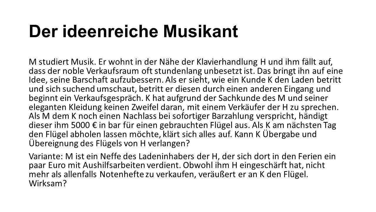 Der ideenreiche Musikant M studiert Musik.