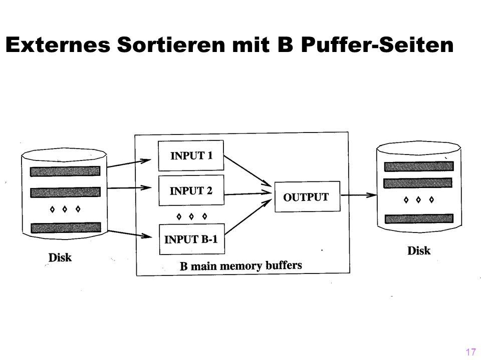17 Externes Sortieren mit B Puffer-Seiten