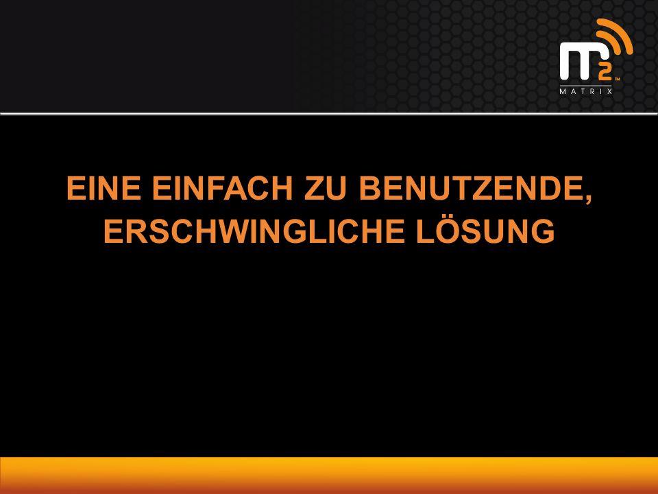 EINE EINFACH ZU BENUTZENDE, ERSCHWINGLICHE LÖSUNG