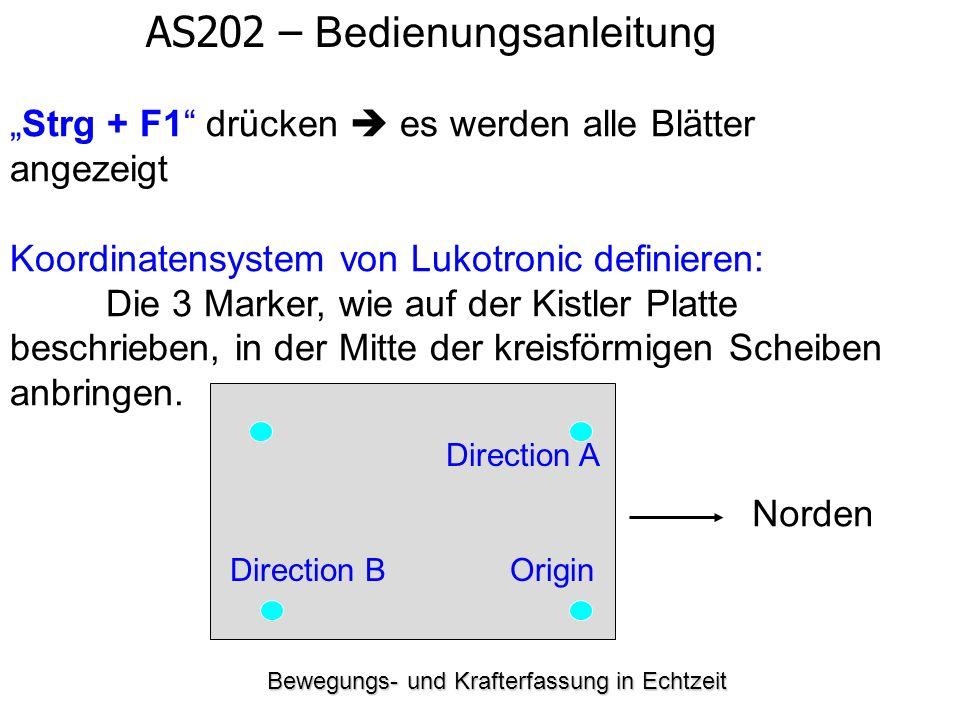 """Bewegungs- und Krafterfassung in Echtzeit AS202 – Bedienungsanleitung """"Strg + F1"""" drücken  es werden alle Blätter angezeigt Koordinatensystem von Luk"""