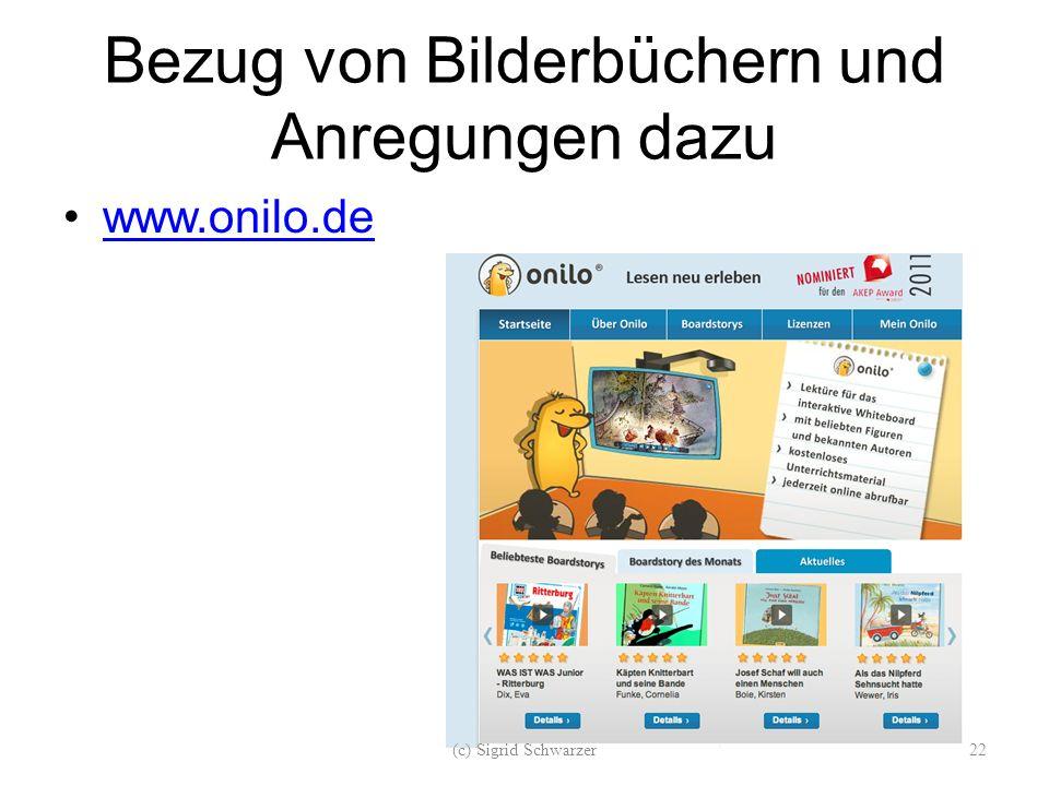 Bezug von Bilderbüchern und Anregungen dazu www.onilo.de (c) Sigrid Schwarzer22