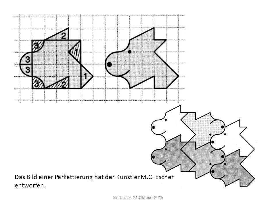 Das Bild einer Parkettierung hat der Künstler M.C. Escher entworfen.