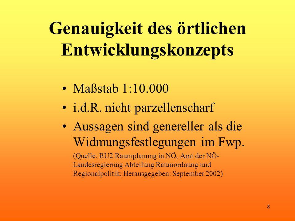 9 Verbindlichkeit des Entwicklungskonzepts Fwp.darf örtl.