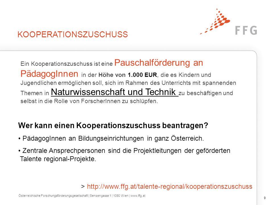 KOOPERATIONSZUSCHUSS Ein Kooperationszuschuss ist eine Pauschalförderung an PädagogInnen in der Höhe von 1.000 EUR, die es Kindern und Jugendlichen er