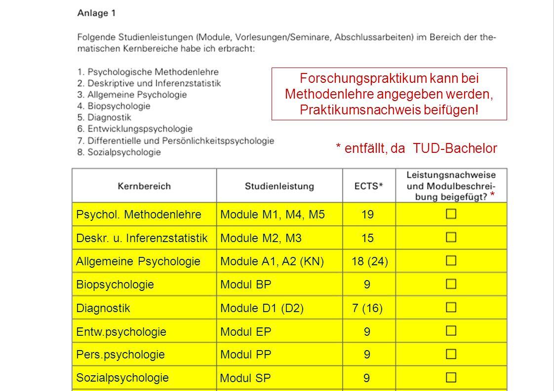 (1) Eignungsfeststellung lt.