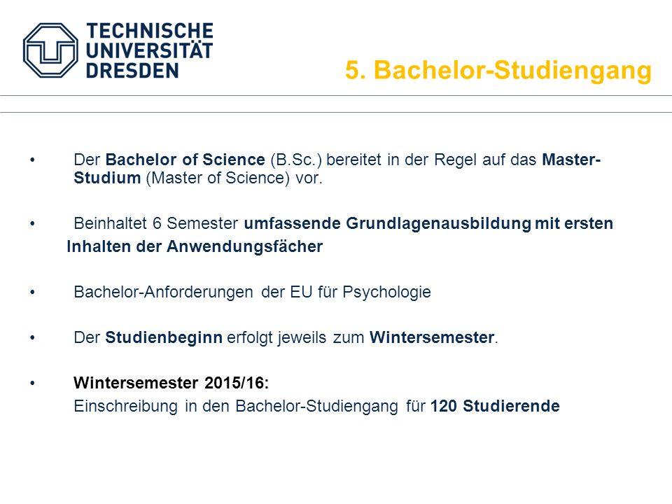 Der Bachelor of Science (B.Sc.) bereitet in der Regel auf das Master- Studium (Master of Science) vor. Beinhaltet 6 Semester umfassende Grundlagenausb