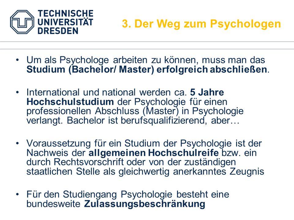 Um als Psychologe arbeiten zu können, muss man das Studium (Bachelor/ Master) erfolgreich abschließen. International und national werden ca. 5 Jahre H