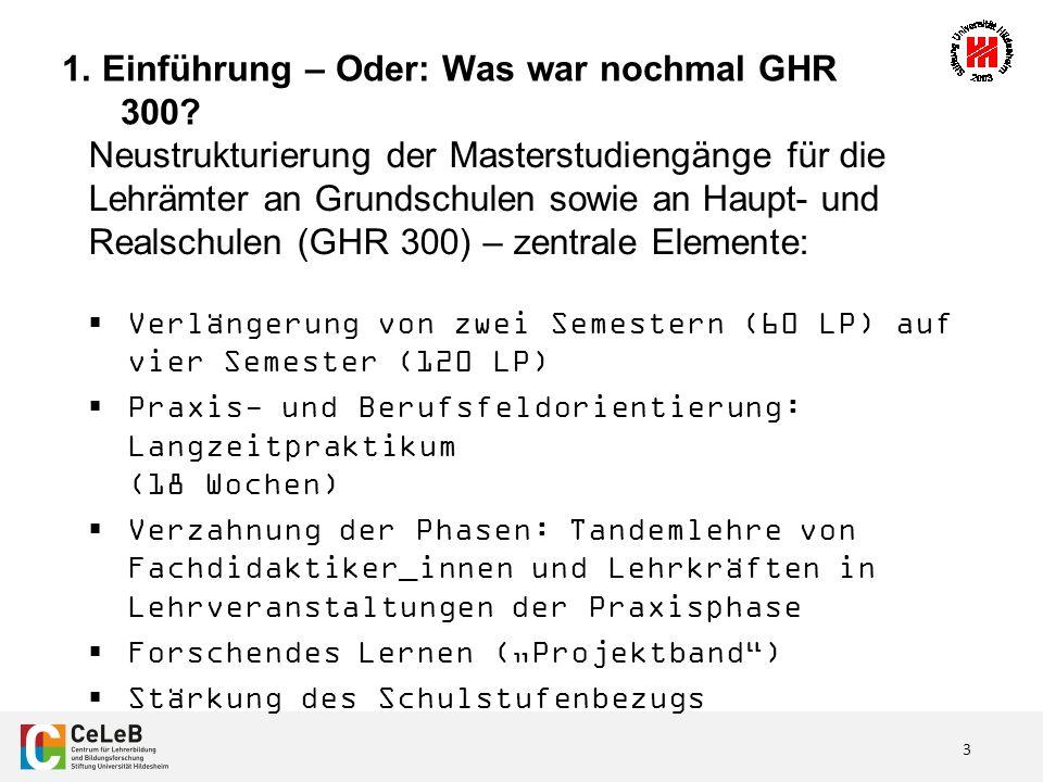 3 1. Einführung – Oder: Was war nochmal GHR 300.