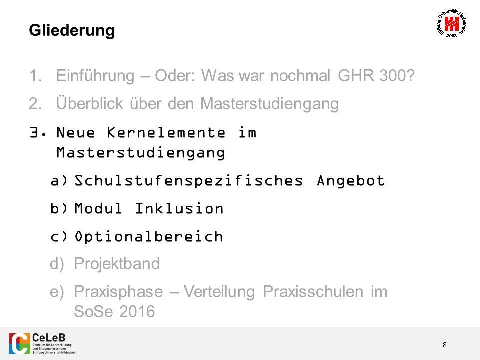 19 3.Neue Kernelemente im Masterstudiengang d) Projektband 1.Projektbörse TerminHeute.