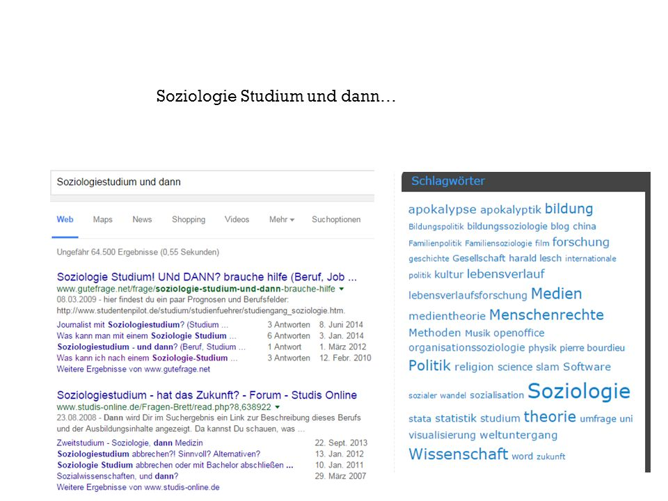 Aus : blog http://soziobloge.de/ist- die-soziologie-noch- gesellschaftlich-relevant/