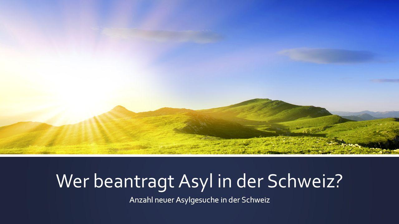Wer beantragt Asyl in der Schweiz? Anzahl neuer Asylgesuche in der Schweiz