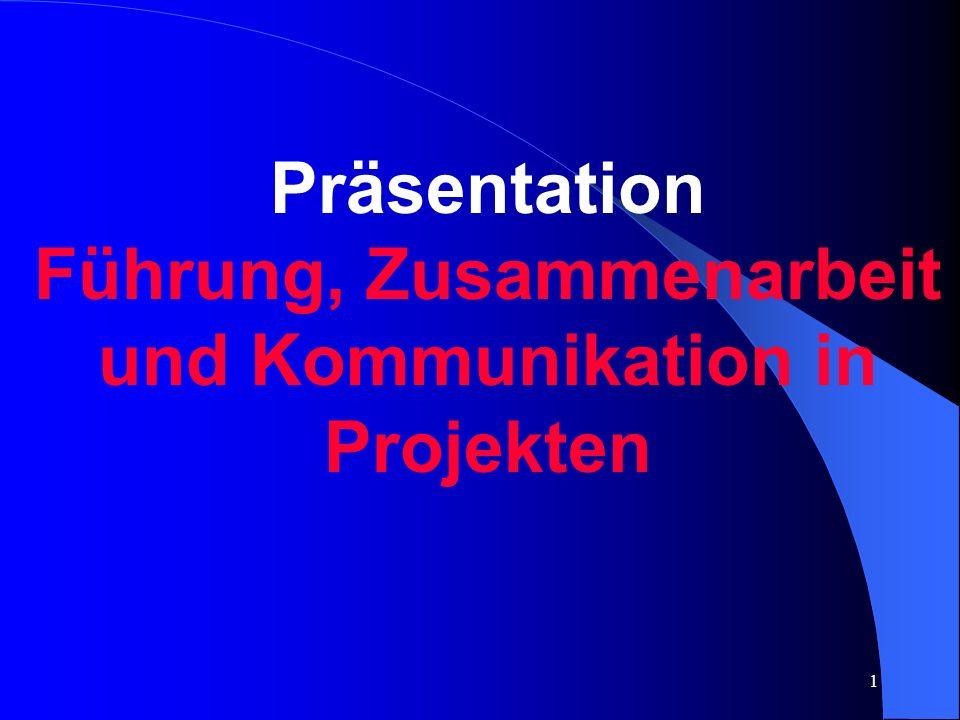 1 Präsentation Führung, Zusammenarbeit und Kommunikation in Projekten