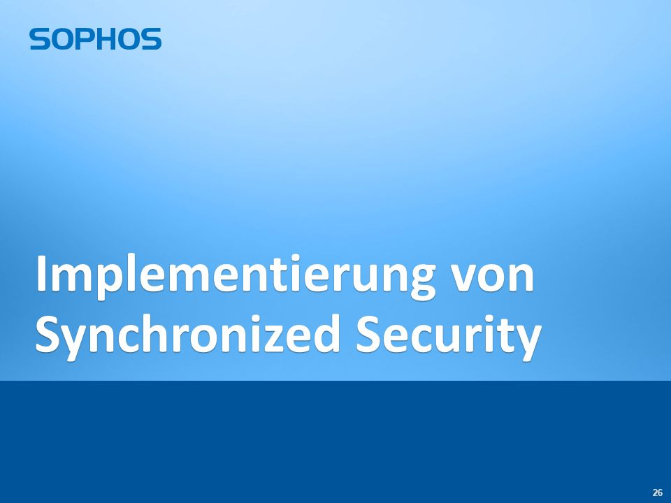 26 Implementierung von Synchronized Security