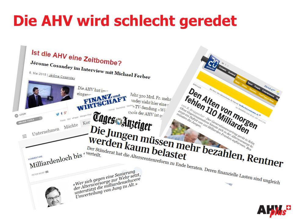 Die AHV wird schlecht geredet