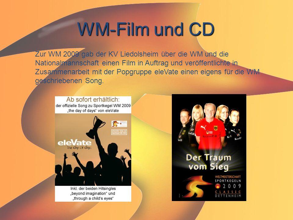 WM-Film und CD Zur WM 2009 gab der KV Liedolsheim über die WM und die Nationalmannschaft einen Film in Auftrag und veröffentlichte in Zusammenarbeit m