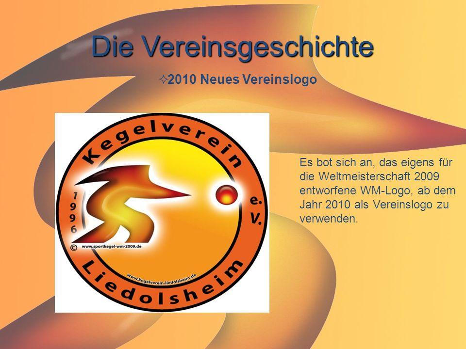 Die Vereinsgeschichte  2010 Neues Vereinslogo Es bot sich an, das eigens für die Weltmeisterschaft 2009 entworfene WM-Logo, ab dem Jahr 2010 als Vere