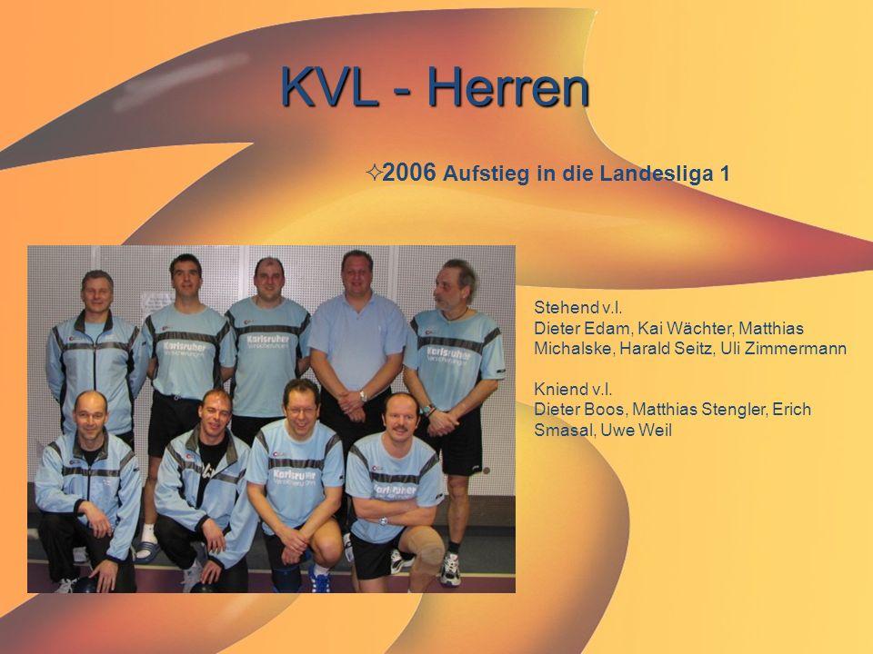 KVL - Herren  2006 Aufstieg in die Landesliga 1 Stehend v.l. Dieter Edam, Kai Wächter, Matthias Michalske, Harald Seitz, Uli Zimmermann Kniend v.l. D