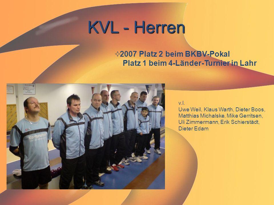 KVL - Herren  2007 Platz 2 beim BKBV-Pokal Platz 1 beim 4-Länder-Turnier in Lahr v.l. Uwe Weil, Klaus Warth, Dieter Boos, Matthias Michalske, Mike Ge