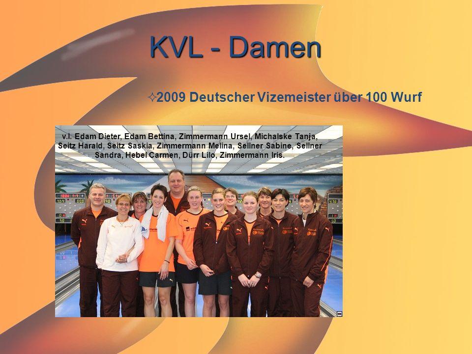 KVL - Damen  2009 Deutscher Vizemeister über 100 Wurf v.l. Edam Dieter, Edam Bettina, Zimmermann Ursel, Michalske Tanja, Seitz Harald, Seitz Saskia,