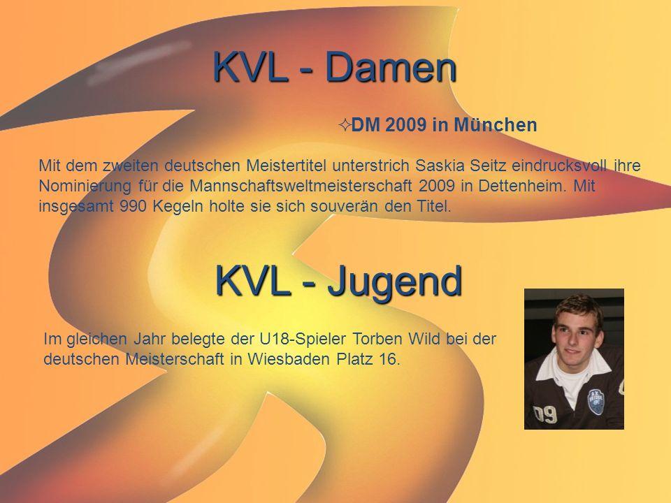 KVL - Damen  DM 2009 in München Mit dem zweiten deutschen Meistertitel unterstrich Saskia Seitz eindrucksvoll ihre Nominierung für die Mannschaftswel