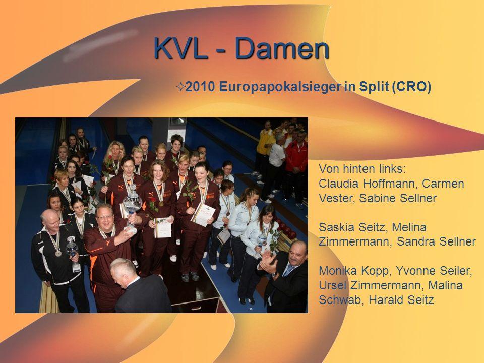 KVL - Damen  2010 Europapokalsieger in Split (CRO) Von hinten links: Claudia Hoffmann, Carmen Vester, Sabine Sellner Saskia Seitz, Melina Zimmermann,