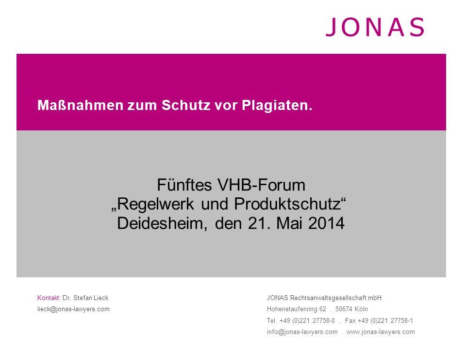 Kontakt: Dr. Stefan Lieck lieck@jonas-lawyers.com JONAS Rechtsanwaltsgesellschaft mbH Hohenstaufenring 62. 50674 Köln Tel. +49 (0)221 27758-0. Fax +49