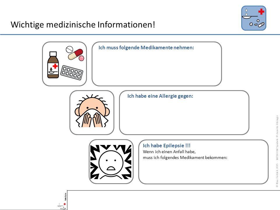 Wichtige medizinische Informationen.